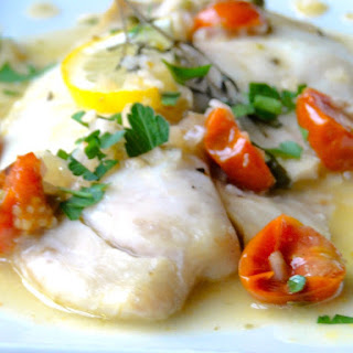 Tilapia with White Wine Caper Sauce.