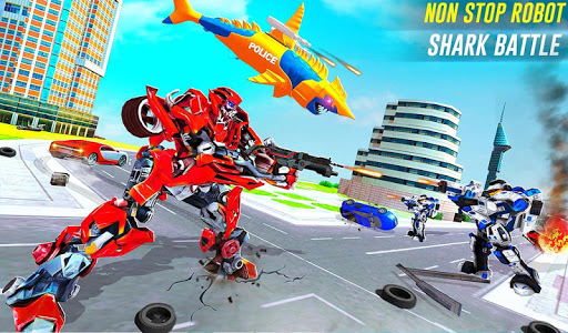 Robot Shark Attack: Transform Robot Shark Games screenshots 12