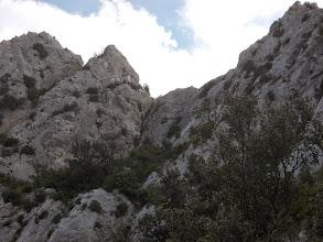 Photo: au centre la fissure de descente