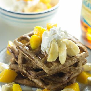 Mango Cardamom Waffles.