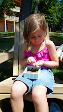 Photo: My little Genevieve didn't shy away from playing with worms