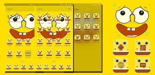 Cartoon Yellow Sponge Baby Theme Aplikasi Di Google Play