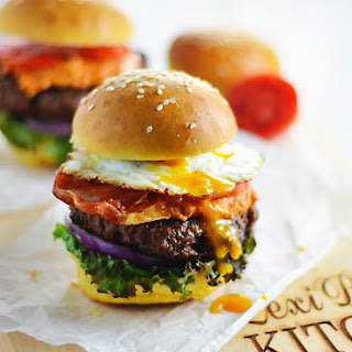 Spanish Burgers with Crispy Serrano and Fried Eggs Recipe