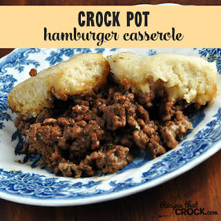 Crock Pot Hamburger Casserole.