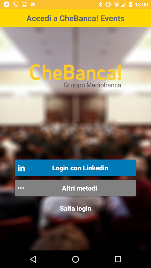 CheBanca! Events- screenshot