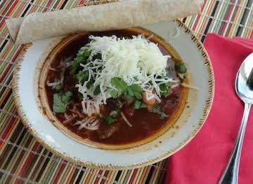 3-Bean and Steak Chili