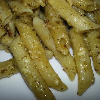 Penne with Creamy Pesto Sauce and Italian Sausage