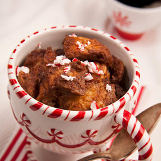 Slow Cooker Chocolate Peppermint Bread Pudding.