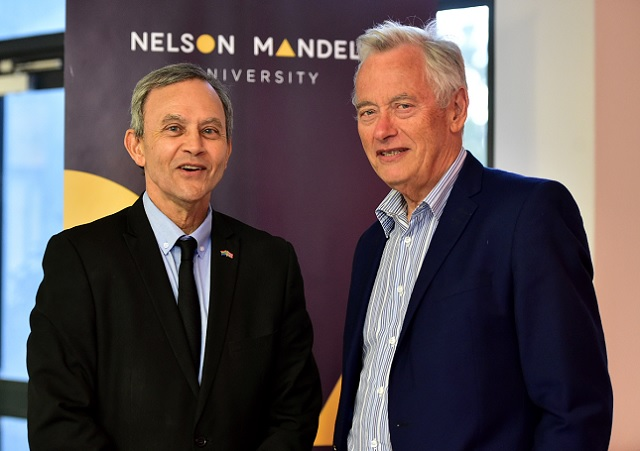 Dr Oswald Franks, executive dean in the Faculty of Engineering at NMU, and Professor Mike Muller, visiting adjunct professor from Wits University's School of Governance.