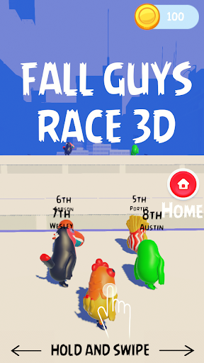 Fall Guyz Race 3D – Ultimate Parkour Run  screenshots 1