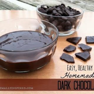 Easy, Healthy, Homemade Dark Chocolate.