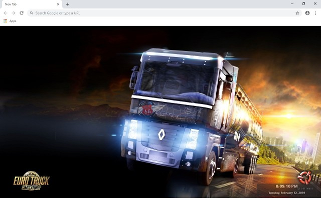 Euro Truck New Tab & Wallpapers Collection