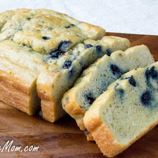 Low-Carb Blueberry English Muffin Bread Loaf.