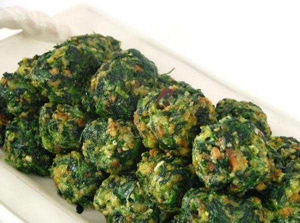 Ciao Bella Spinach Ball Appetizers Recipe