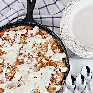 Pumpkin White Chocolate Dump Skillet Cake