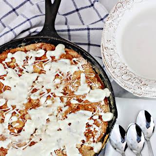 Pumpkin White Chocolate Dump Skillet Cake.