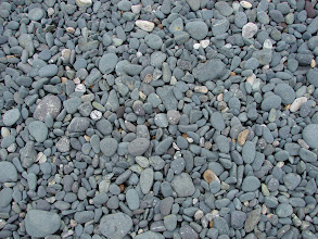 Photo: The smooth gravel beach at my campsite.