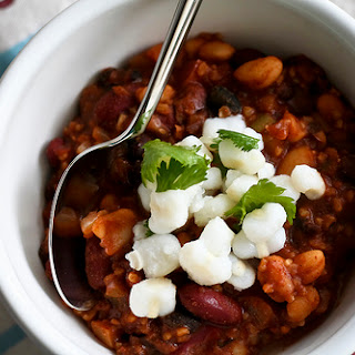 Vegetarian Three-Bean Chili
