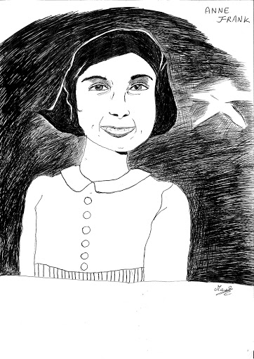 Anne Frank, illustration Desproges