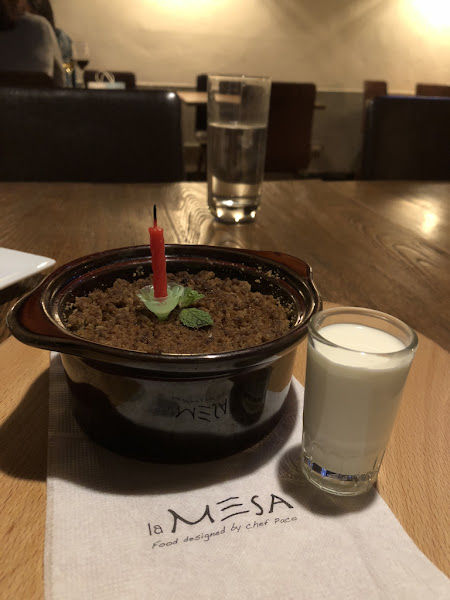 融合四個國家的西班牙料理 la MESA 浪漫慶生 Celebrating birthday – la MESA Taipei Contemporary tapas restaurant