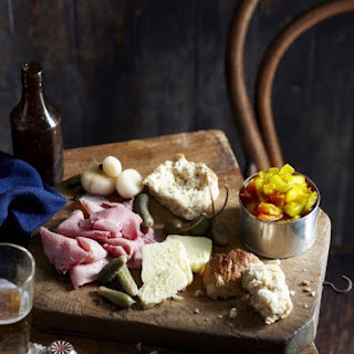 Ploughman's Lunch with Beer Bread.