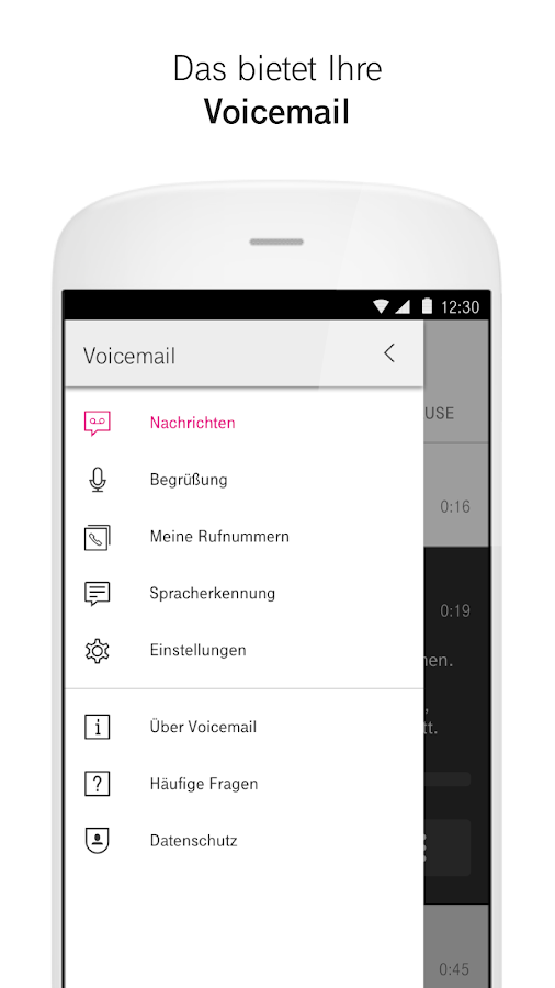 Voicemail- screenshot