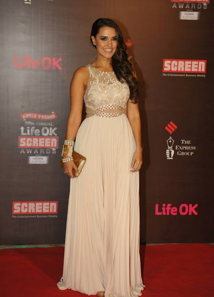 Neha Dhupia at Life OK Screen Awards 2013