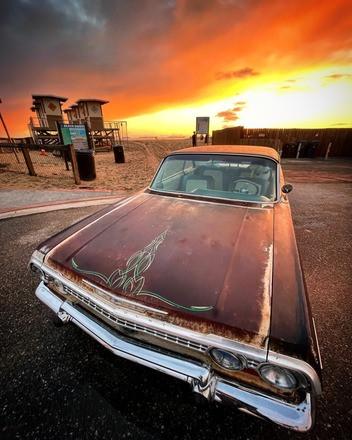 1963 impala ss Patina style with LS motor Hire Huntington Beach