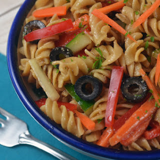Easy Italian Pasta Salad Punched With Flavor.