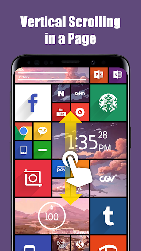 Screenshot for Square Home Key - Launcher: Windows style in United States Play Store