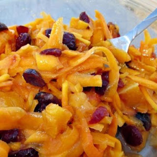 Butternut Squash, Carrot, Apple & Cranberry Salad