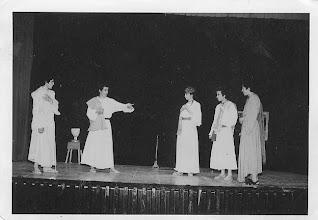 """Photo: Nos la envía Fray Ricardo de Luis Carballada. """"representación de """"Palabras en la arena"""" de Buero Vallejo. Creo que también del curso 1976-1977""""."""