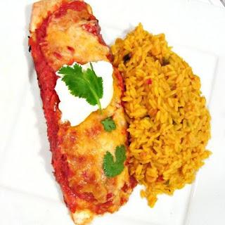 Saucy Shrimp Enchiladas