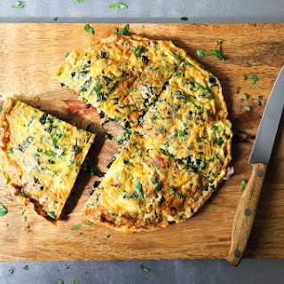 Kale and Bacon Frittata.