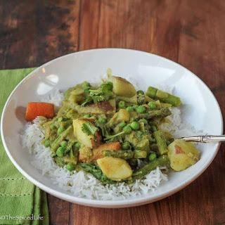 Karnataka Coconut Spring Vegetable Curry (Saagu) Recipe
