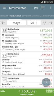 Mi presupuesto: miniatura de captura de pantalla