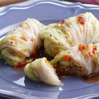 Asian Style Cabbage Rolls with Beef.