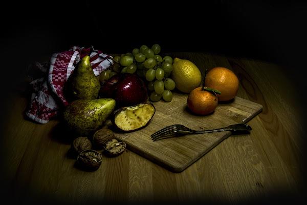 Composizione di frutta in stile..caravaggesco.. di Cperso