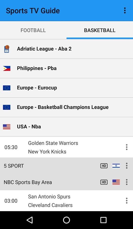 Sports TV Guide - στιγμιότυπο οθόνης