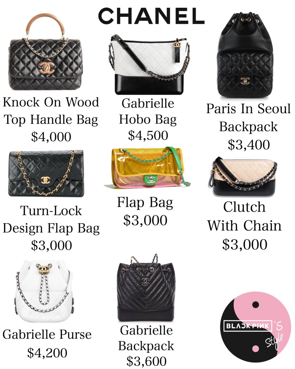 blackpink jennie handbag collection