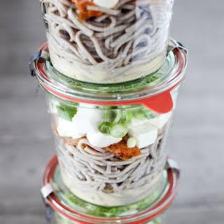 Miso-Kimchi Soba Noodle Soup Mason Jars.