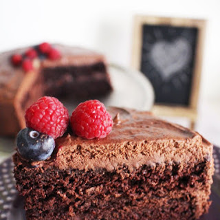 Vegan Chocolate Cake with Vegan Chocolate Frosting.