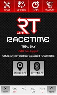 RaceTime - GPS Lap Timer LITE - náhled