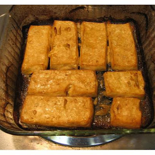 Baked, Pressed Tofu