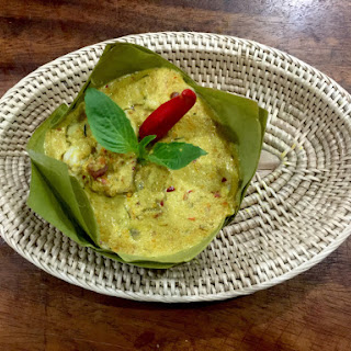 58 Fish Amok (Cambodian steamed fish curry).