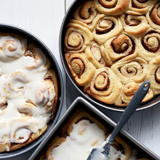 Single-Rise Frosted Cinnamon Rolls.