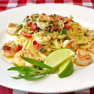 Tarragon Lime Shrimp Scampi