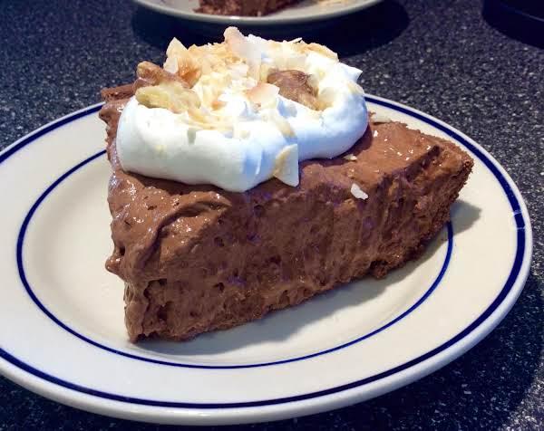 Chocolate Walnut Coconut Cream Pie