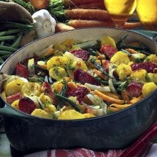 Gemüse-Topf mit Kasseler