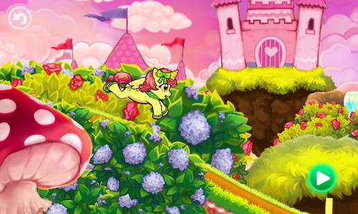 Run cute little pony race game - náhled
